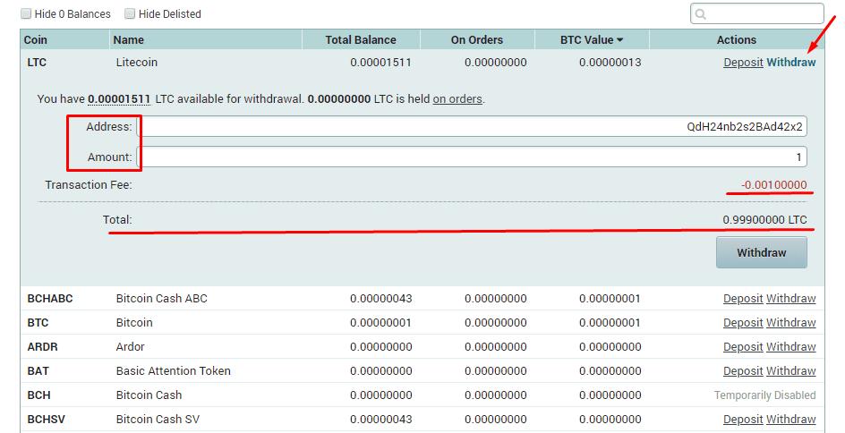 Вывод денежных средств Poloniex